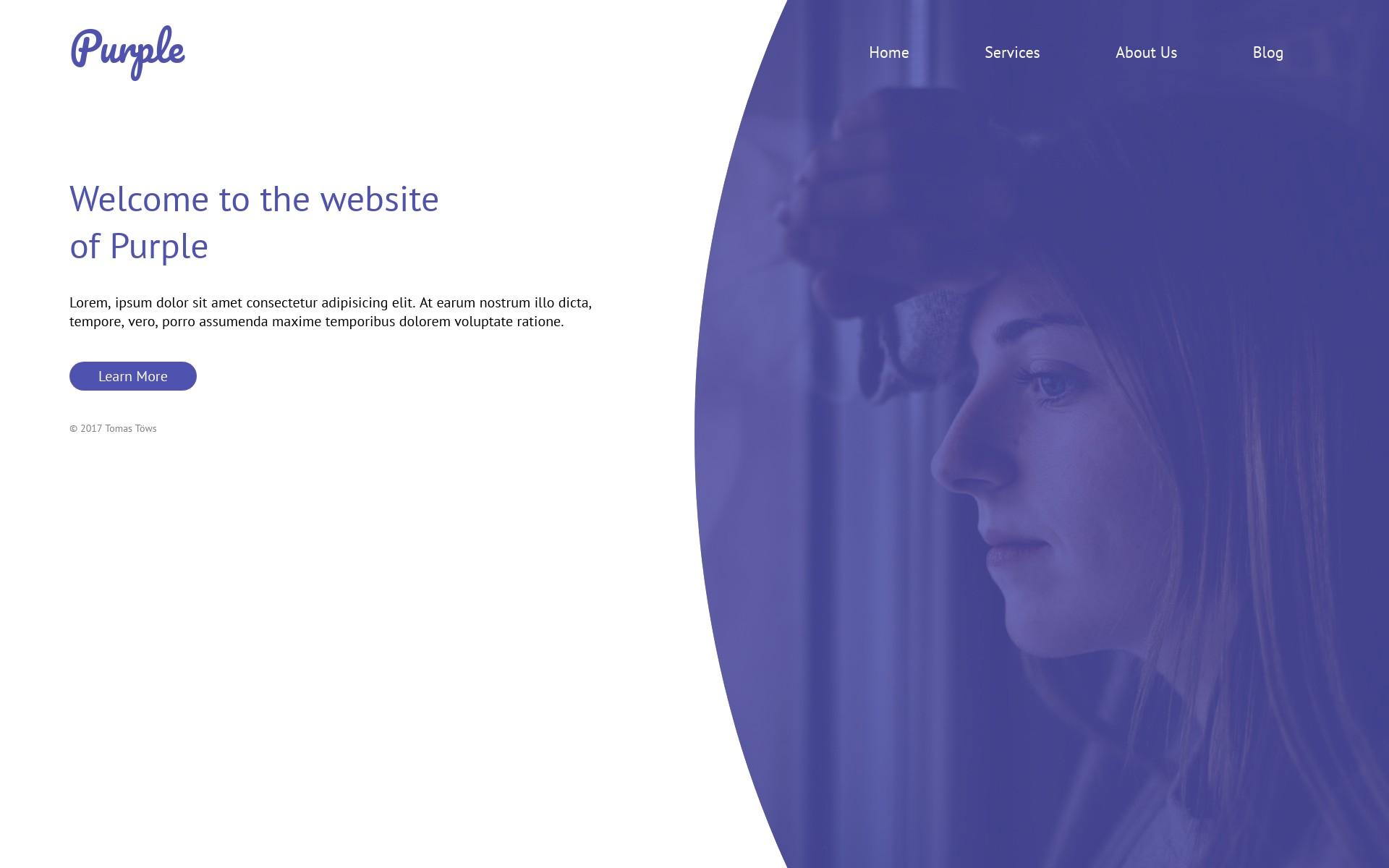 Screenshot of the project Purple